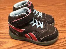 Reebok Hi Classic Black Red Teal Gum Bottom Baby Toddler Girls Sneaker Shoes 5C