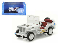 1/43 Greenlight UN United Nationals Jeep Willys Diecast Model Car White 86308