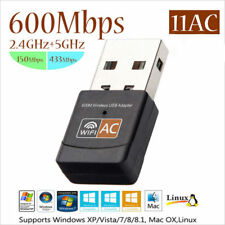 Mini 600Mbps Dual Band 2.4G/5GHz Wireless Lan USB PC WiFi Adapter 802.11AC DE
