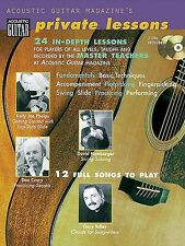 Acoustic Guitar Magazine Private Lessons Learn to Play Tutor Music Book & CD