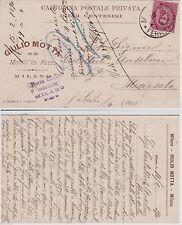 # MILANO- testatina- GIULIO MOTTA- MOBILI IN FERRO 1890