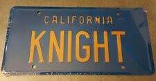 Knight Rider / '82 Trans Am / KITT / KNIGHT *STAMPED* Prop Replica License Plate
