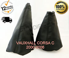 VAUXHALL CORSA C 2000-2006 GENUINE LEATHER GEAR STICK & HANDBRAKE GAITER-SET