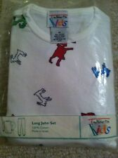 Talbots Kids Long John Set/Pajamas Snowman size 4 NIP