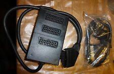 Adaptateur extension péritel 3 voies  + cable peritel