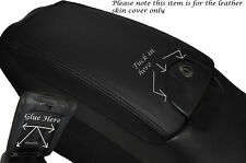 BLACK STITCH ARMREST LID LEATHER SKIN COVER FITS MERCEDES CLK W209 C209 02-09