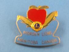LIONS CLUB CANADA MORDEN MANITOBA APPLE CORN PIN PINBACK BUTTON