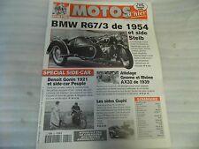 REVUE MOTOS D'HIER N° 22 FEVRIER 2000 /BMW R 67/3 de 1954 / SIDES GUPHI A 14 €