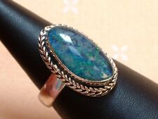 Exclusiver Opal Ring - 22 x 13 mm - tolle Farben - Sterling Silber - 925 - Gr 57