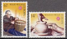 Belgium**EUROPA CEPT 1976-Crafts Pottery+Basket Weaving-2vals-Vannerie-Potterie