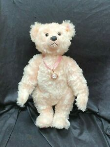 STEIFF PINK MOHAIR LIMITED EDITION QUEEN MOTHER TEDDY BEAR 2002