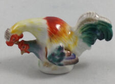Meissen Porcelain Miniature Rooster and Hen Chicken Mating Figure Figur