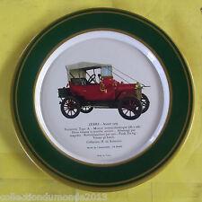ANCIENNE ASSIETTE PUBLICITAIRE SHELL AUTOMOBILE ZEBRE 1909 voiturette type A