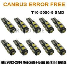 10pcs White T10-9-SMD CAN-bus Error Free 2825 W5W LED Parking Eyelid Light Bulbs