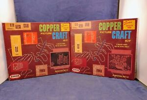 Vintage Aurora Copper Picture Craft Kits 1961