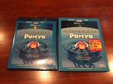 Ponyo Blu-ray with RARE SLIPCOVER ONLY! DISNEY STUDIO GHIBLI OOP HOLY GRAIL SLIP