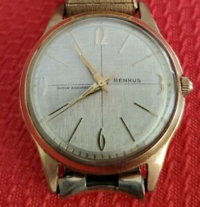 Benrus Vintage Gold Filled Mens Watch Runs Perfectly