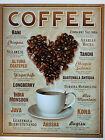 PLAQUE METAL PUBLICITAIRE vintage rétro usa CAFE COFFEE - 41 X 32 CM