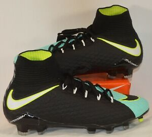 Nike Hypervenom Phatal III FG Black Womens Soccer Cleats Sz 6.5 NEW 881546 400