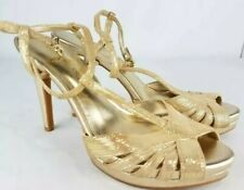 Womens Antonio Melani Gold High Heels Sz 9M