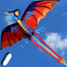 New Classical 3D Dragon Kite 140*120cm Single Line With Tail Outdoor Sports Toy