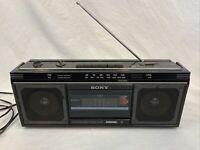 Vintage Sony Boombox Cassette/AM FM Walkman CFS-230 Needs Repair See Description