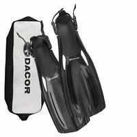 SCUBA Diving Fins & Snorkeling Fins- Dacor Mariner Open Heel Fins with Bag