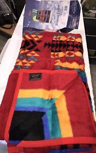 "IBENA Southwestern Intricate Designed Blanket Mojave THROW 60 X 80"" Red Reverse"