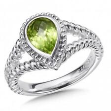 Colore SG Sterling Silver Peridot Ring Sz 7 Retails $199