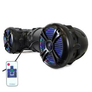 "Pyle PLATV85BT 8"" 1000 Watt Waterproof Amplified Bluetooth ATV Marine Speakers"
