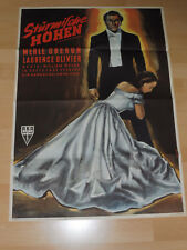 STÜRMISCHE HÖHEN - orig. Kinoplakat A1 EA ´50 - WILLIAM WYLER Laurence Olivier