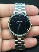 Nixon Watch The Kensington Movin Out- Pre owned Stainless Steel Unisex Lg Face