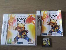 JEU NINTENDO DS 3DS  LEGEND OF KAY  COMPLET