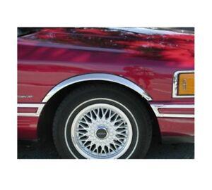 LINCOLN TOWN CAR '89-97 Extensions d'aile 2AV et 2AR Chrome SET NEUF