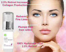 Pure 100% Hyaluronic Acid + 2.5% Retinol Anti Ageing Plumping Serum Aust Made