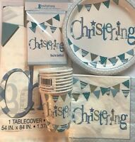 Blue Christening Day Party Tableware Decorations Party Accessories Decorations