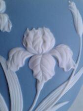 Blue IRIS  Flower Vase ~ Wedgewood  type