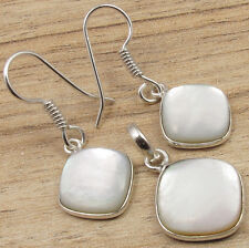 MOTHER OF PEARL SHELL Matching Jewelry, Earrings & Pendant ! 925 Silver Plated