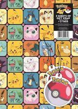 Pokémon Theme Wrapping Paper Sheets