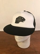 Men's Black & White Poly Blend Marmot Crystal Ball Trucker Snapback Hat (CH7)