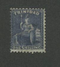 1863 Trinidad Britannia Postage Stamp #42 Used Faded Cancel