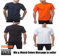 LOT 3 PACK PRO CLUB MENS POCKET T SHIRTS HEAVYWEIGHT SHORT SLEEVE WORK TEE M-5XL
