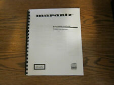 Operating instructions user guide For Marantz receiver cd cassette by model