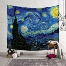 Van Gogh The Starry Night Tapestry Wall Hanging Polyester Mat Home Décor CG