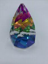 Swarovski Crystal Cone Rio Paperweight, Vintage Vitrail Rainbow Figurine