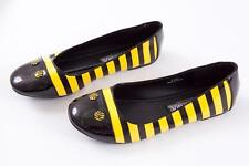 SPIRIT FUNTASMA WOMENS BLACK YELLOW BUMBLE BEE COSTUME STRIPED FLATS SHOES 6