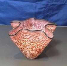 Kosta Boda Vaso Carmen  Rosso/marrone - 49855 - Vase by Ulrica Hydman - NEW -