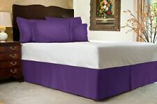 1000 Tc Purple Solid Bed Skirt Select Drop Length All Us Size 100% Egy. Cotton