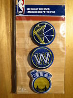 Official Licensed NBA Golden State Warriors Embroidered  Patch Pins