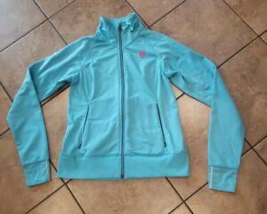 BONTRAGER Womens Premium Zip Up Track Jacket Cycling Bike Coat Blue Size Medium